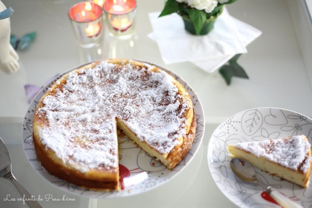 Gâteau et part b