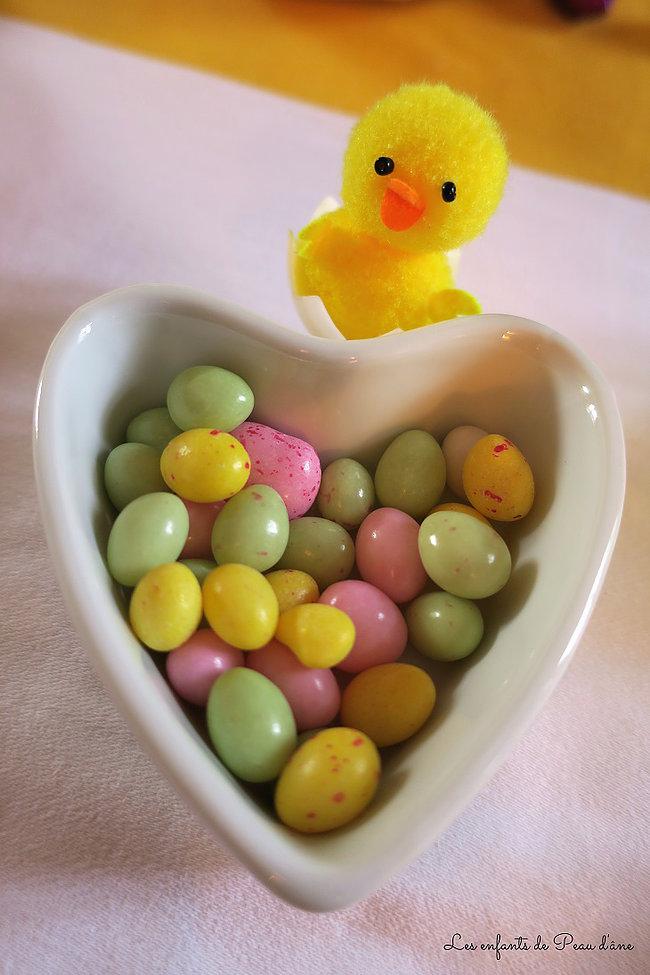 Oeufs de Pâques poussin